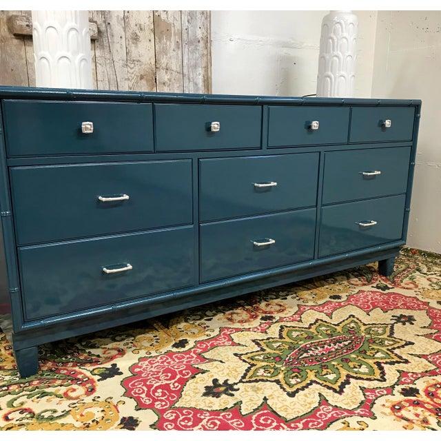 Blue Dresser | High Gloss Blue Dresser - Image 5 of 9