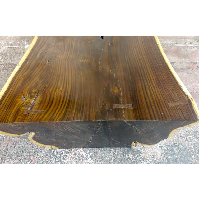 """African Leadwood Slab """"Monumental"""" Coffee Table For Sale - Image 9 of 13"""