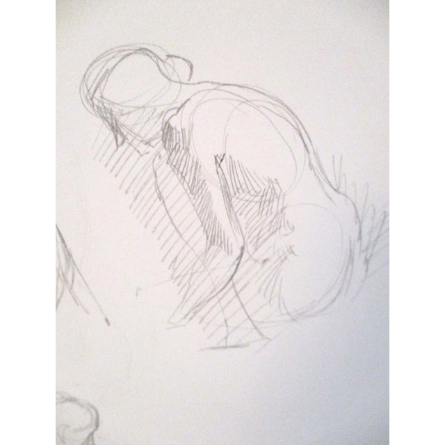 Original Figurative Artist Sketches - A Pair For Sale - Image 4 of 7