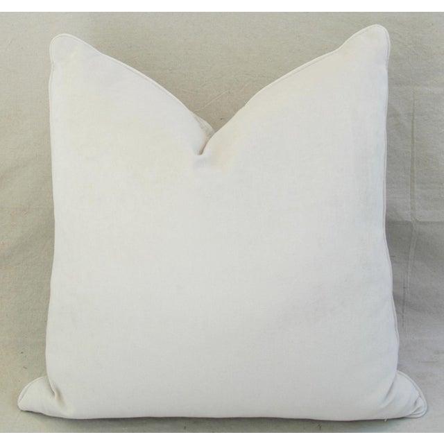 Boho Chic White Crocodile Velvet Pillows - a Pair - Image 9 of 11