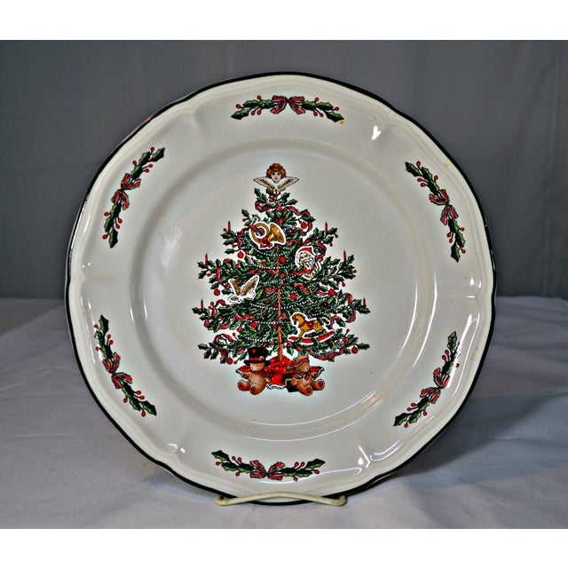 ceramic vintage christmas dinnerware 9 pieces for sale image 7 of 8