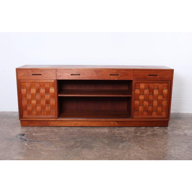 1950s Woven Front Cabinet by Edward Wormley for Dunbar For Sale - Image 5 of 10