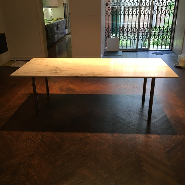 Elaine Lustig Cohen Marble Extension Dining Table For Sale - Image 4 of 9