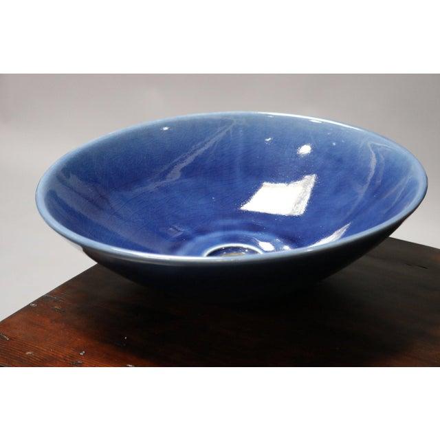 2010s Cobalt Blue Sink Basin For Sale - Image 5 of 5