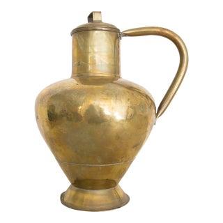 Vintage Decorative Brass Pitcher For Sale