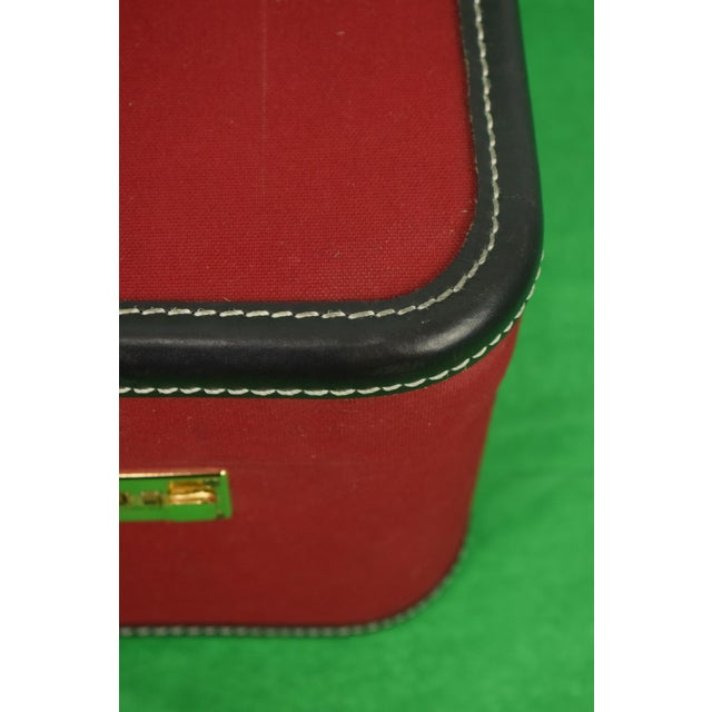 Black 1960s Traditional T Anthony Suitcase w/ TWA Label For Sale - Image 8 of 11
