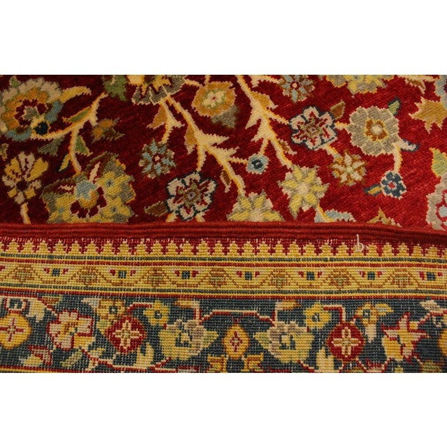 2000 - 2009 Istanbul Sidney Red/Teal Turkish Hand-Knotted Rug -3'2 X 5'1 For Sale - Image 5 of 8