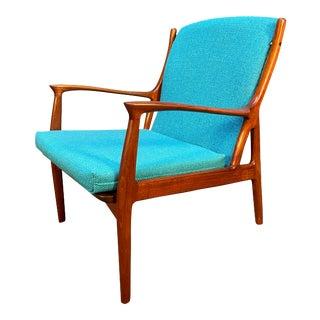 Vintage Danish Mid Century Modern Teak Lounge Chair by Erik Andersen & Palle Pedersen for Horsnaes Møbler For Sale