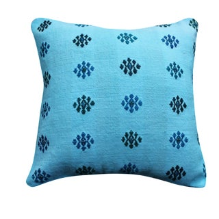 Blue Turkish Pillow Cover For Sale