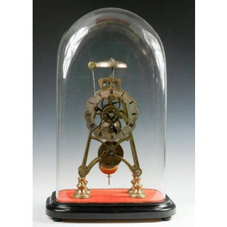 Mid-19th Century Neoclassical Brass Skeleton Clock Preview