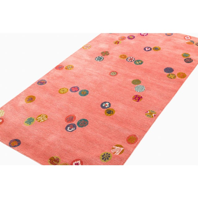 Silk Carini Wool and Silk Rug- 3′ × 6′ For Sale - Image 7 of 9