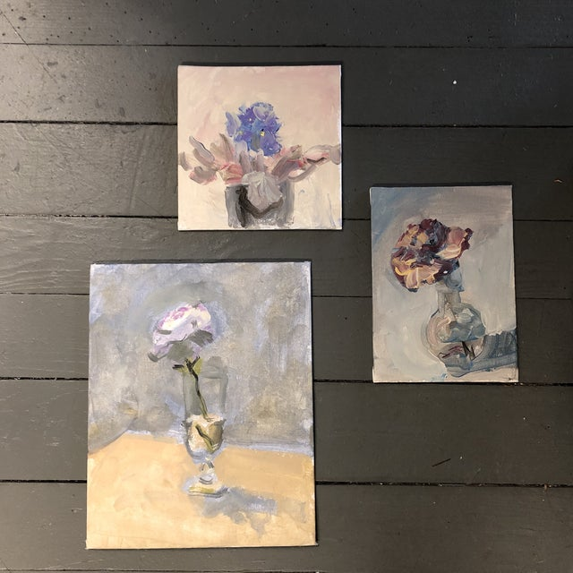 Gallery Wall Collection 3 Original Contemporary Still Life Impressionist Paintings For Sale In Philadelphia - Image 6 of 6