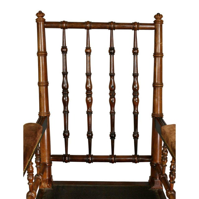 George IV Rosewood Bergere Chair by Gillows For Sale - Image 4 of 12
