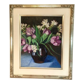 Still Life of Flowers Oil Painting by Ellen Wales Hutchison, 1925