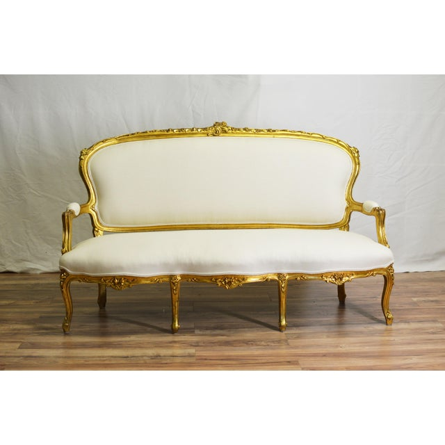 19th Century White and Gold Venetian Sofa - Image 2 of 10
