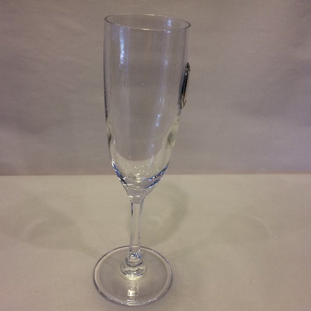 Valenti & Co. Valenti Vintage Crystal Flutes - A Pair For Sale - Image 4 of 11