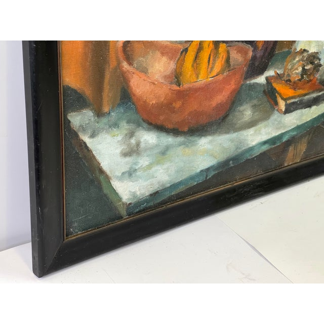 1960s Midcentury Still Life Oil Painting For Sale - Image 5 of 12