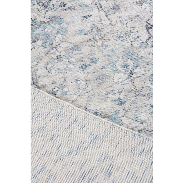 Blue Exquisite Rugs Biron Handmade Wool & Viscose Beige & Blue - 8'x10' For Sale - Image 8 of 9