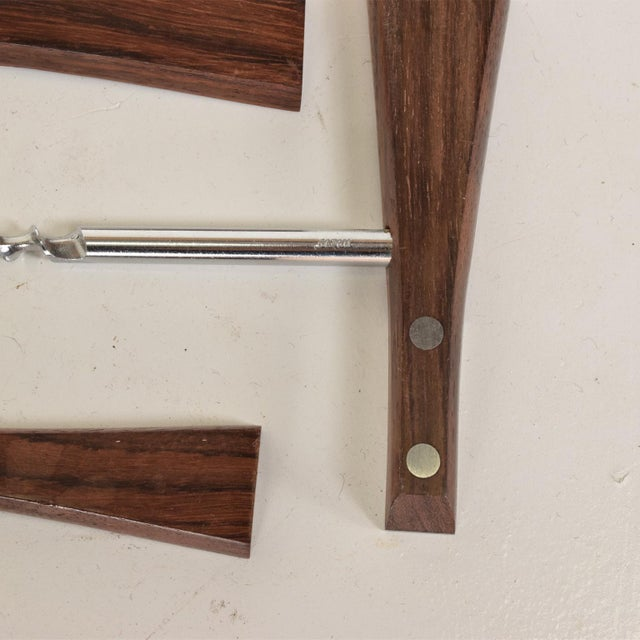 Mid-Century Modern Rosewood Stainless Steel Bar Set Accessories - 3 Pc. Set For Sale - Image 9 of 11