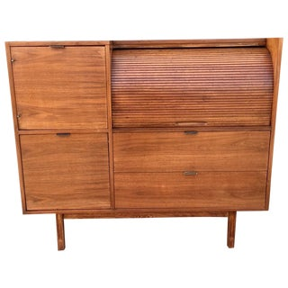 Hooker Mid-Century Walnut Secretary Desk For Sale