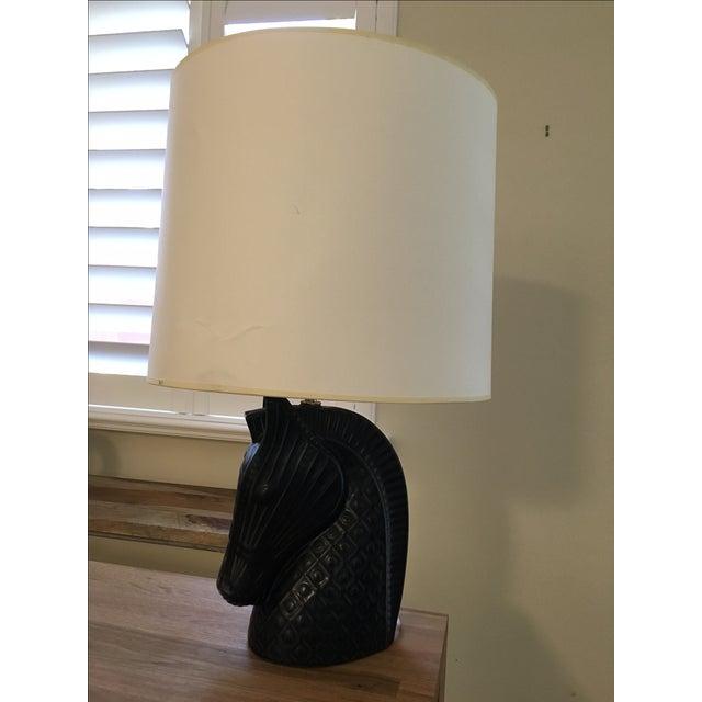 Jonathan Adler Horse Head Table Lamp - Image 2 of 8