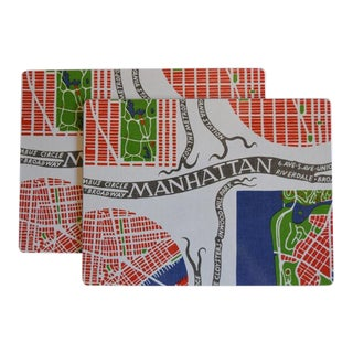 Josef Frank Manhattan Placemats -A Pair For Sale