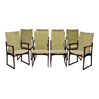 Mid Century Danish Rosewood Dining Chairs by Kurt Ostervig for Vamdrup - Set of 8 For Sale