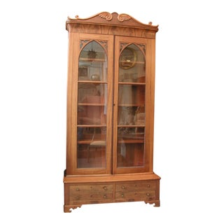 19th Century American Classical Mahogany Bookcase/Display For Sale