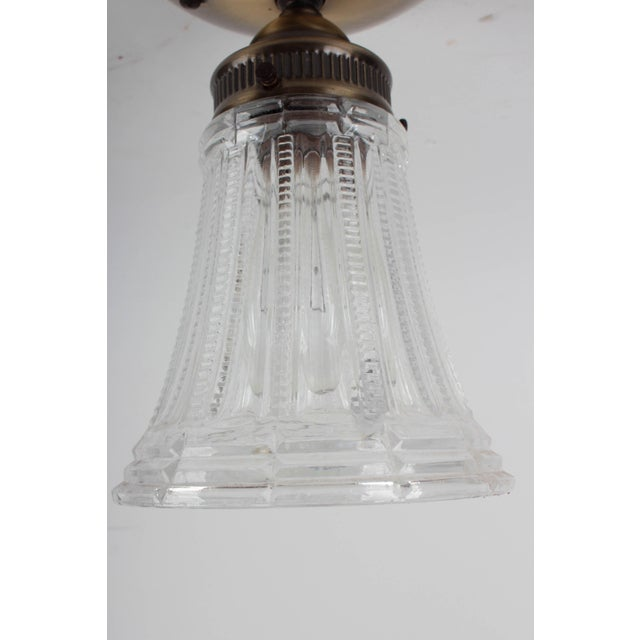 Brass Fluted Ceiling Lamp - Image 3 of 6