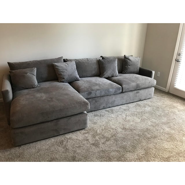 Textile Crate & Barrel Lounge II Sectional Sofa For Sale - Image 7 of 7