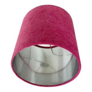 Raspberry Pink Velvet Drum Lamp Shade For Sale