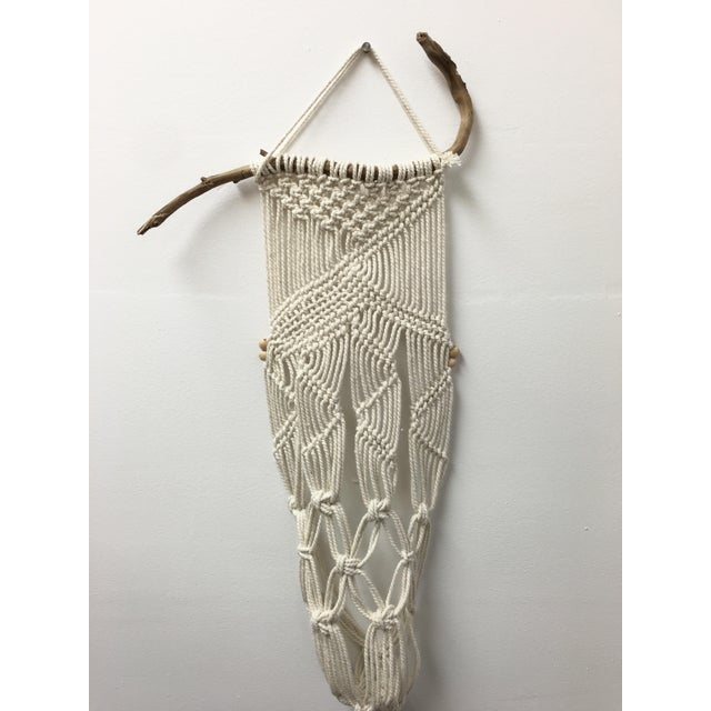 Handmade Macrame on Natural Branch - Image 5 of 8