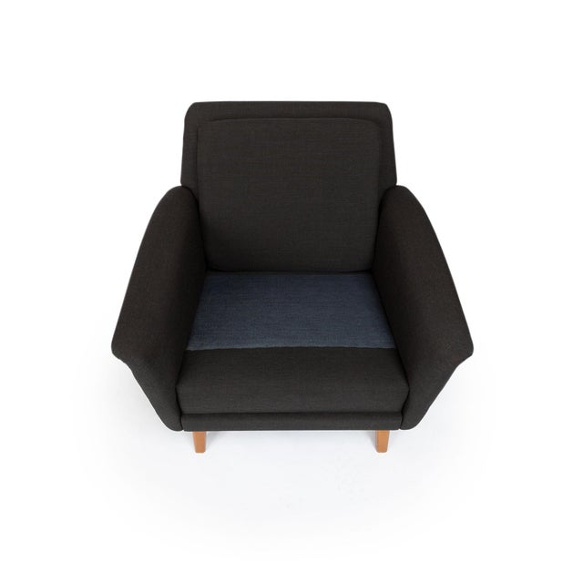 Dux Danish Modern Black Sofa & Lounge Chair - 2 Pc. Set For Sale - Image 9 of 13
