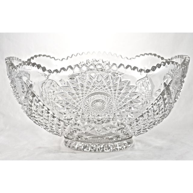 "14"" Eapg Hobstar Bowl - Image 2 of 3"