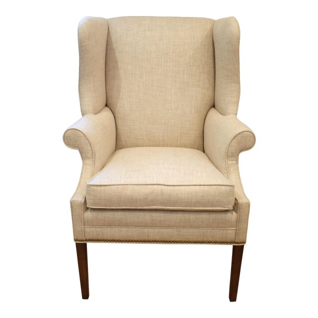 Hollywood Regency Century Wingback Chair For Sale
