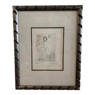 "1968 Salvador Dali Framed Etching ""Mercury"" For Sale"
