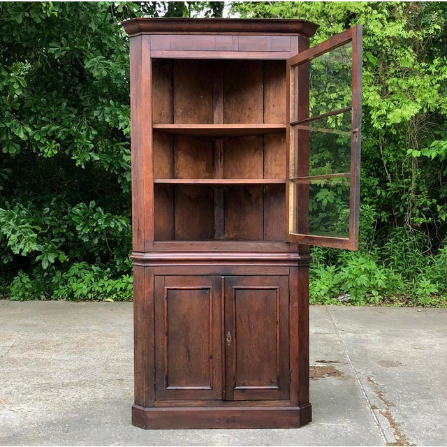 19th Century French Louis Philippe Corner Cabinet For Sale - Image 9 of 13