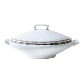 Greek Key Limoges Lidded Oval Dish