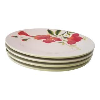 "1980s ""Garden Bouquet Home Studio"" Ceramic Floral Decorative Dinner Plates - Set of 4 For Sale"
