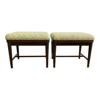 Vintage Breakers Hotel Matching Benches - a Pair