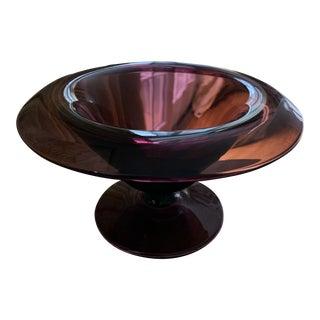 Vintage Amethyst Glass Bowl For Sale