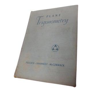 Plane Trigonometry Book, 1934 For Sale
