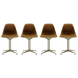 Set of 4 Charles and Ray Eames La Fonda Chairs, 1960s For Sale