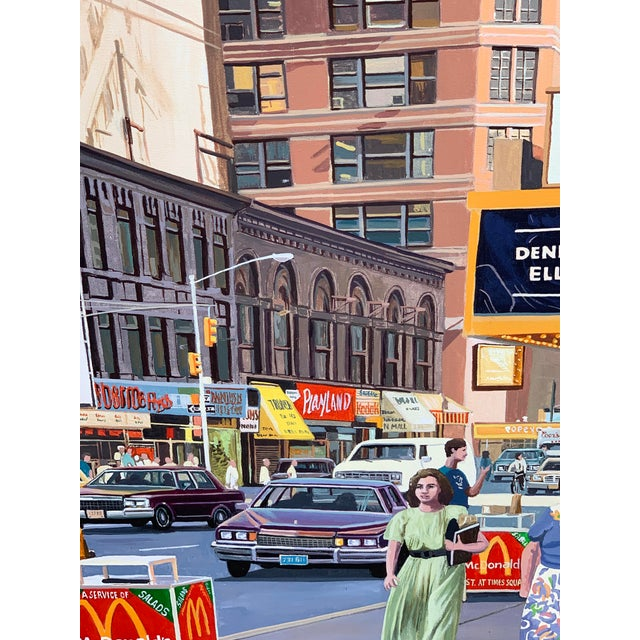 1980s 1987 Nyc- Times Square Pop Art Original Painting by Matthew Popielarz For Sale - Image 5 of 11