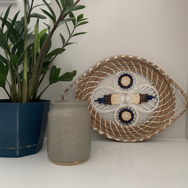 1960s 1960s Mid-Century Spun Basket Art For Sale - Image 5 of 6