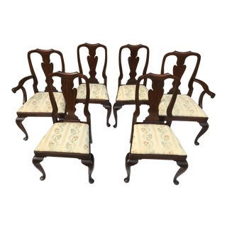 1960s Vintage Henkel Harris Mahogany Dining Room Chairs- Set of 6 For Sale