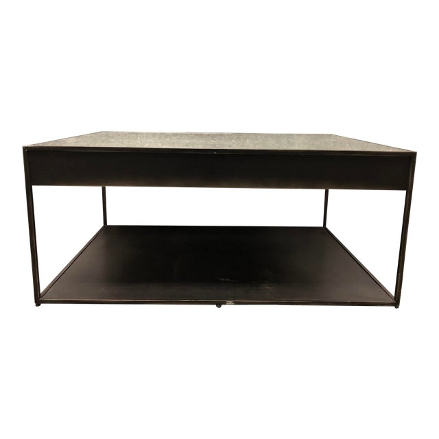 Restoration Hardware Gramercy Narrow Coffee Table With Drawers For Sale