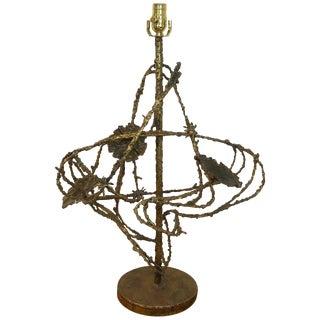 Brutalist Floral Atom Lamp