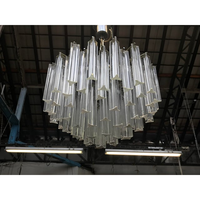 1960s 1960s Italian Murano Glass Prism Chandelier For Sale - Image 5 of 7