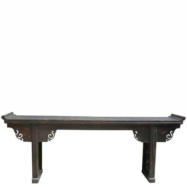 Antique Chinese Elm Altar Console Table For Sale - Image 10 of 10